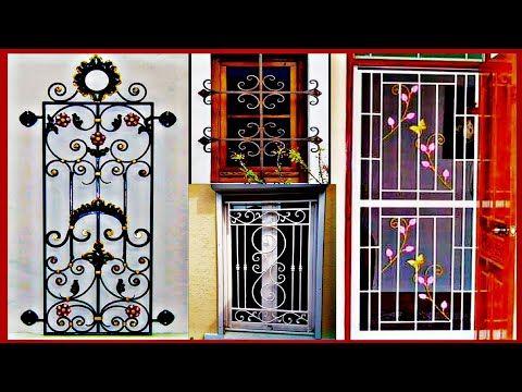 2020 latest simple window grill || New Design Steel Door Gr …