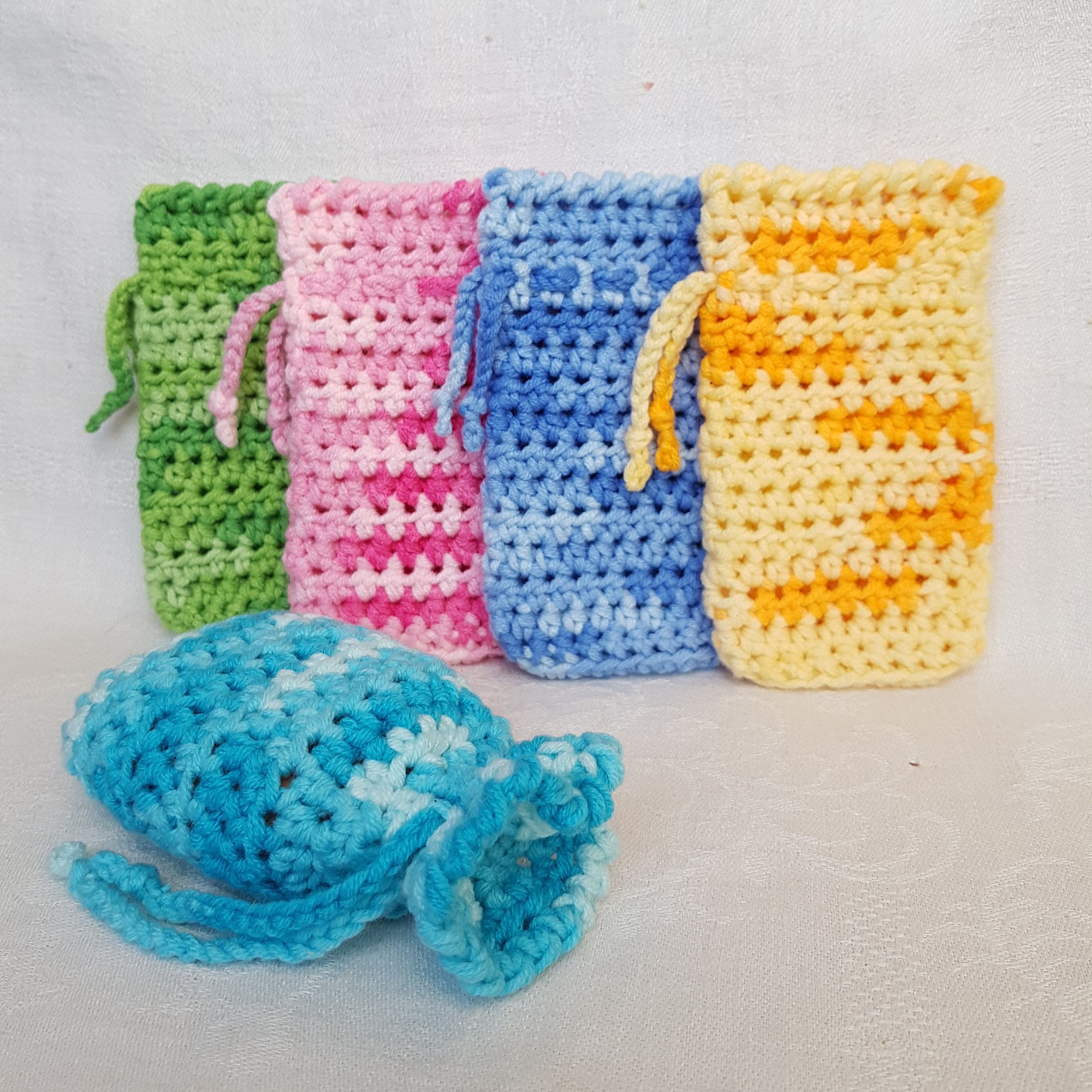 Crochet cotton Soap saver Gift for her Eco friendly Spa gift set Bar ...