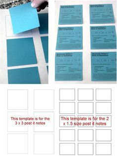 PostIt Note Template For Printing Onto PostIts Free Pdf