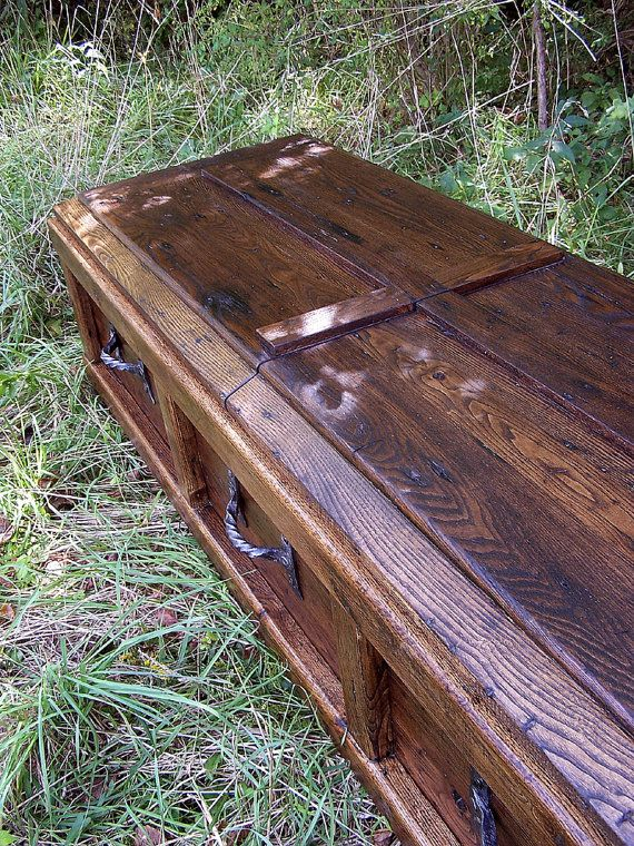 Reclaimed Wood Custom Casket With Wrought By