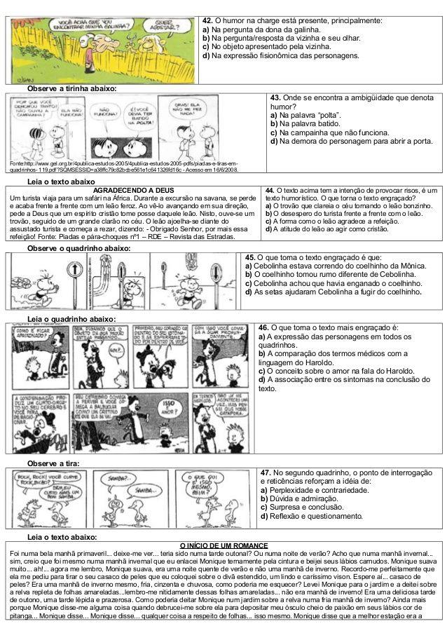 Atividades De Lingua Portuguesa Com Matriz De Referencia