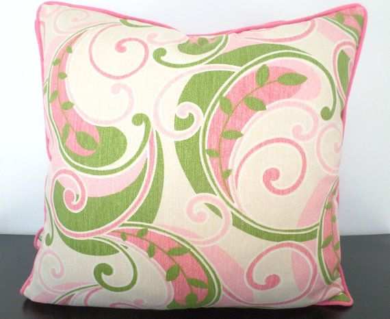 Light pink accent pillow cover 18x18