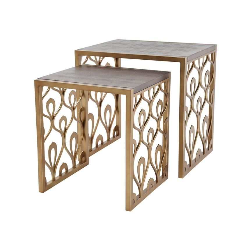 Mackie Nesting Tables Set Of 2 Nesting Tables Table Settings Table