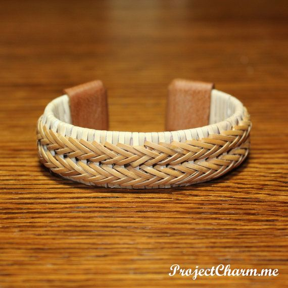 Custom Nantucket Basket Bracelet With Cherry Wood By Pcfinelywoven