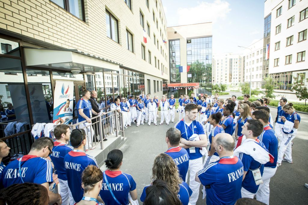 l'arrivée des Français Jeux olympiques, Olympique, France