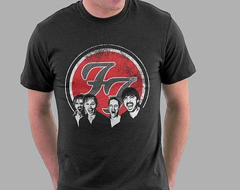 Foo Fighters T-shirt Foo Fighters Shirt Dave Grohl Nate Mendel Pat Smear Taylor Hawkins Chris Shiflett Tshirt Adult Men Women T-Shirt