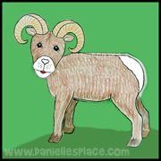 Bighorn Sheep Craft From Www Daniellesplace Com Animal Crafts