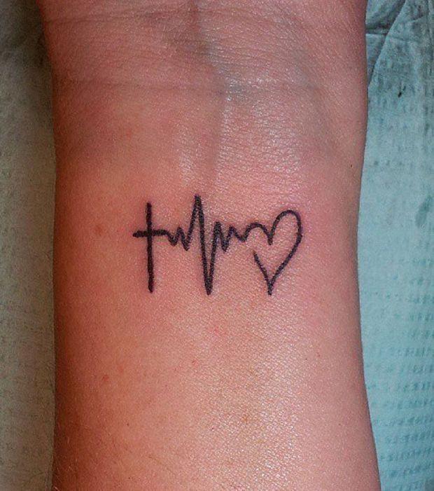 Tatuajes De Latidos Del Corazon O Electrocardiograma Ideas De