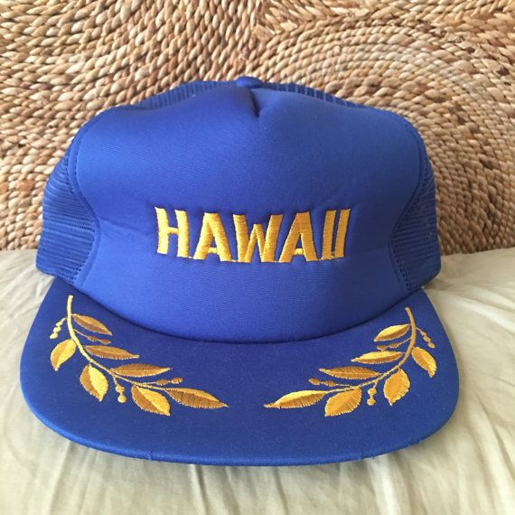 57603a0f817 Vintage trucker hat hawaii embroidered by TheThriftMonster on Etsy Vintage  Trucker Hats