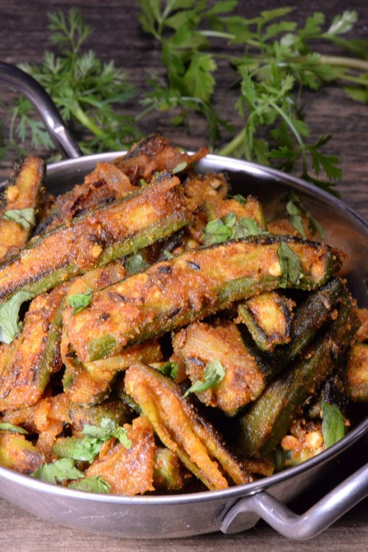 Indian Bhindi Masala Dry Fry (Spicy Fried Okra) Recipe