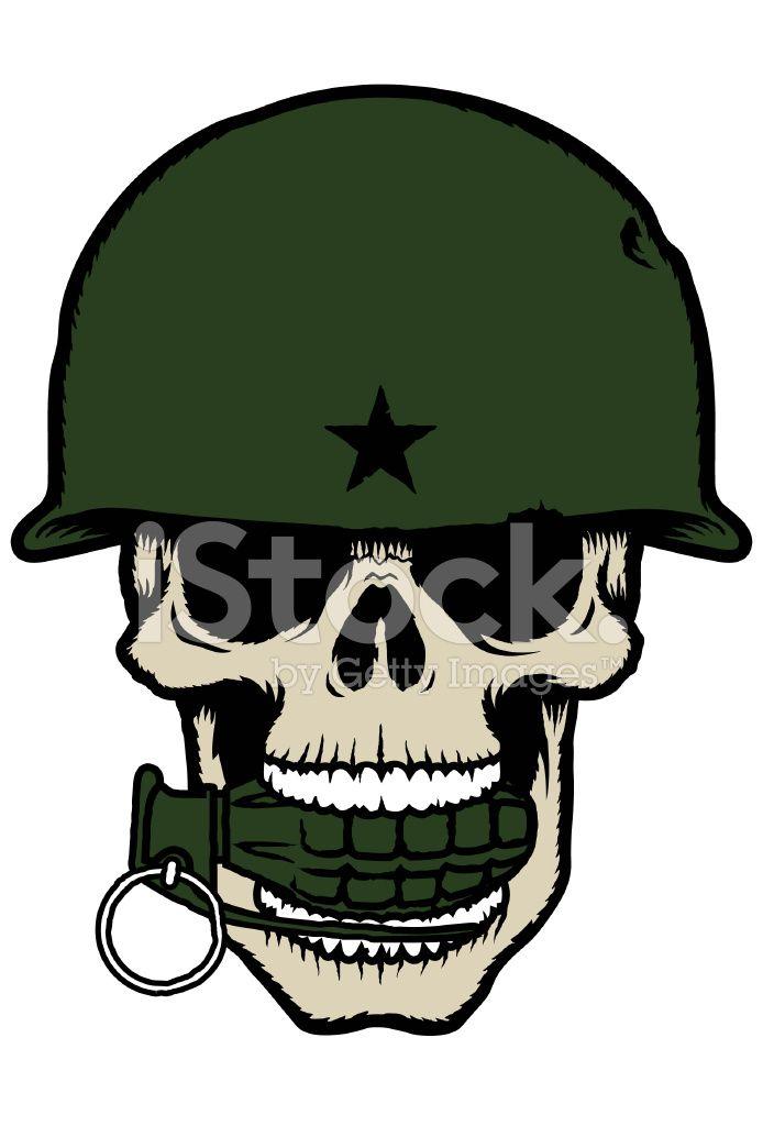 Army Helmet Drawing : helmet, drawing, Skull, Helmet, Grenade, Stock, Photos, Helmet,, Drawing,