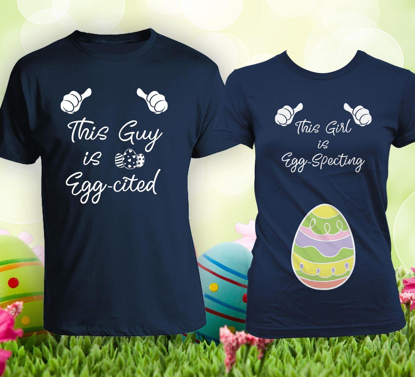 7a3ce82d Easter Pregnancy Announcement Matching Shirts For Couples, Matching Easter  Shirts, Pregnancy Reveal, Happy Easter, Easter shirts CCB-576-577 by ...