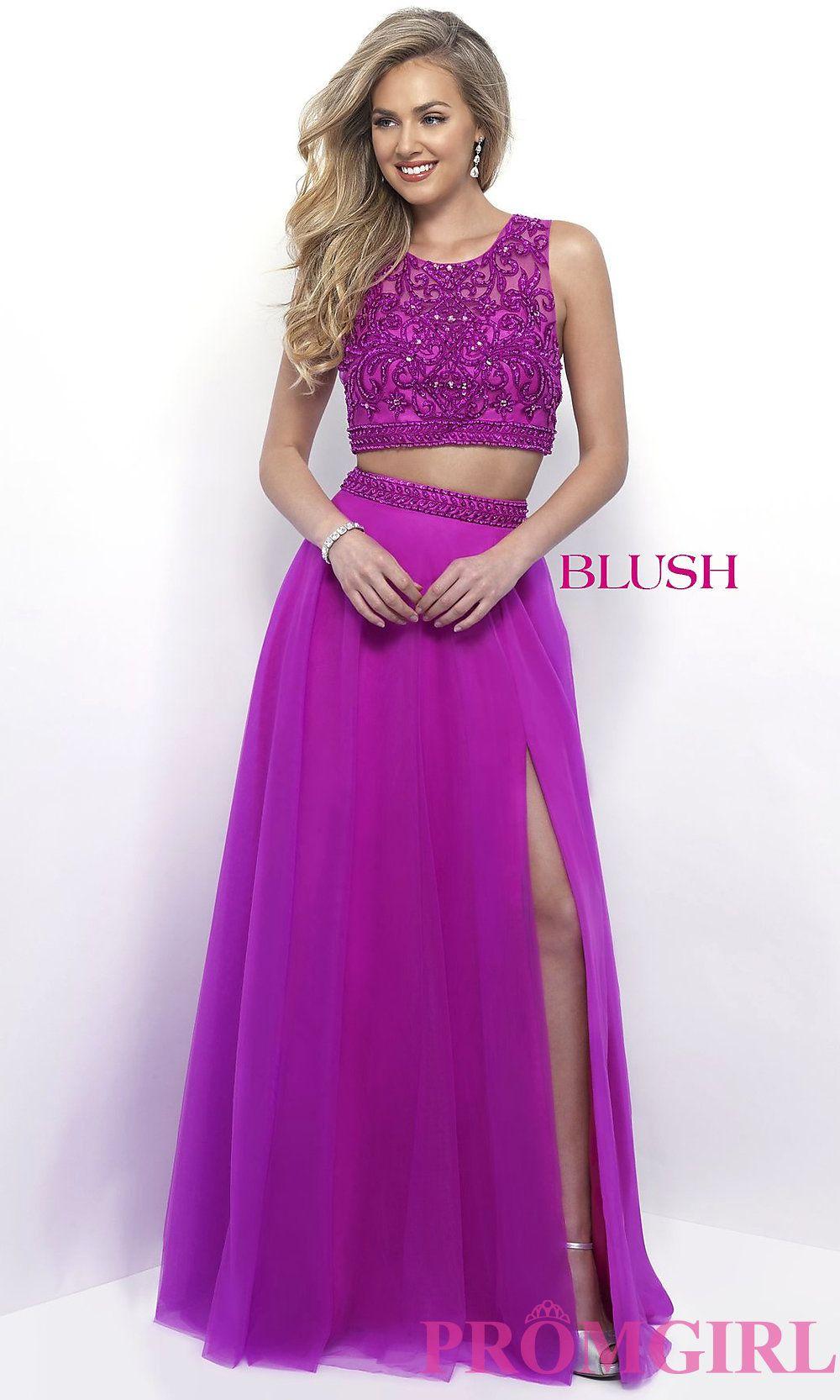 Blush Tulle Formal Dresses