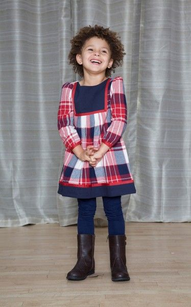 Long Sleeve Bib Dress - The Dragon and the Rabbit  - Leggings available at http://www.thedragonandtherabbit.com/categories/GIRLS/Pants-%26-Jeans/Leggings/