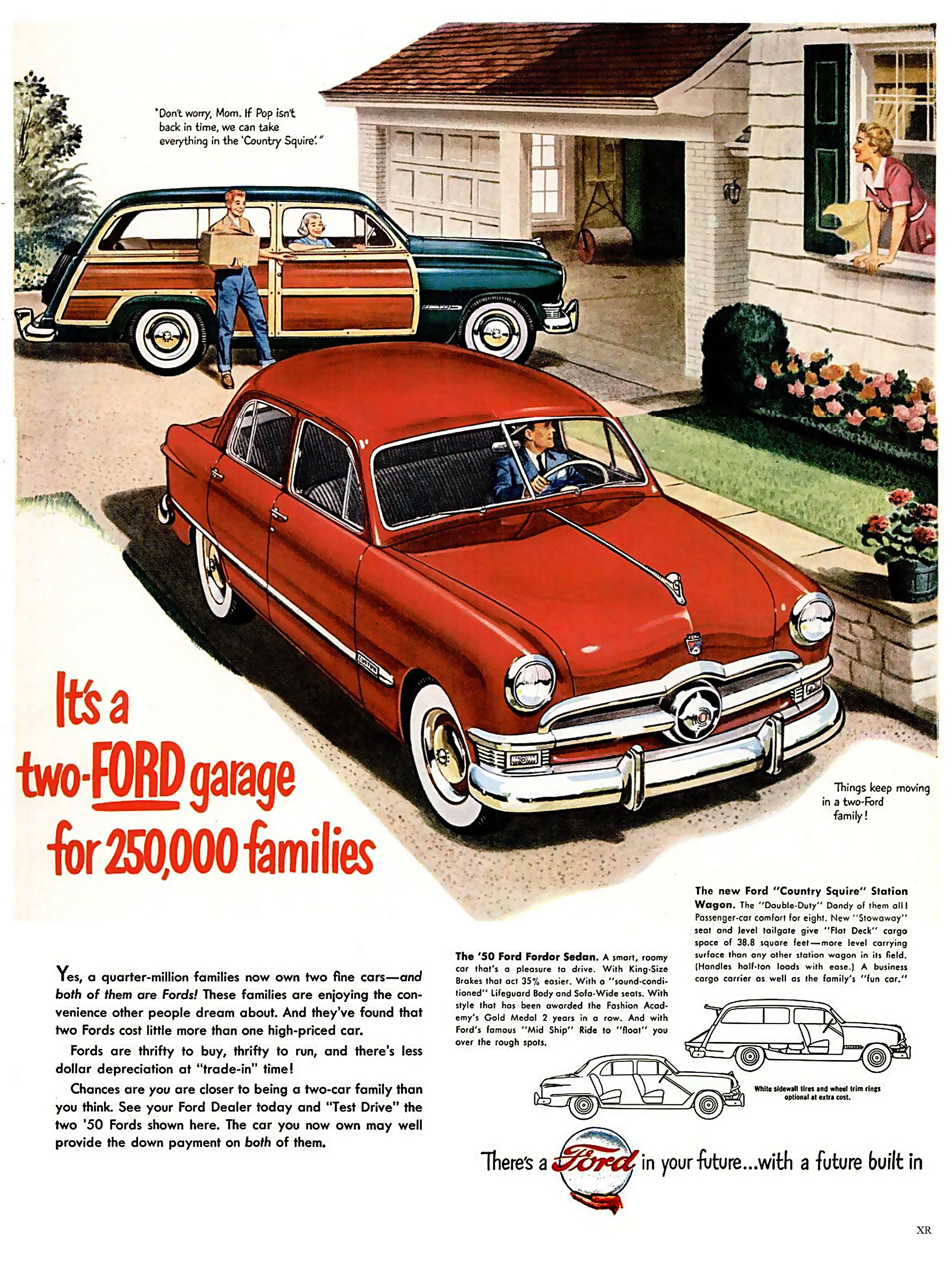 it 39 s a two ford garage shoebox shoebox fords pinterest ford ad car and ford lincoln mercury. Black Bedroom Furniture Sets. Home Design Ideas