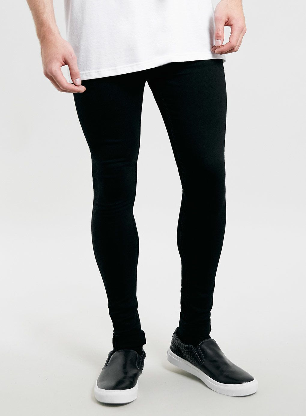Black Super Spray On Skinny Jeans - Jeans - Clothing ...