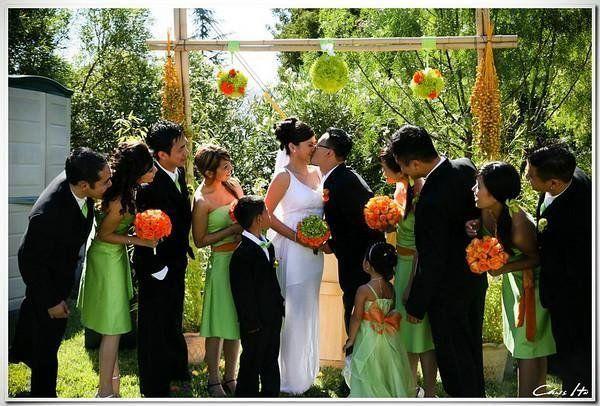 Green And Orange Wedding Theme Wedding Hair Green Orange Makeup Flower Design Theme Project Kelly Lo Wedding Orange Wedding Themes Green Wedding