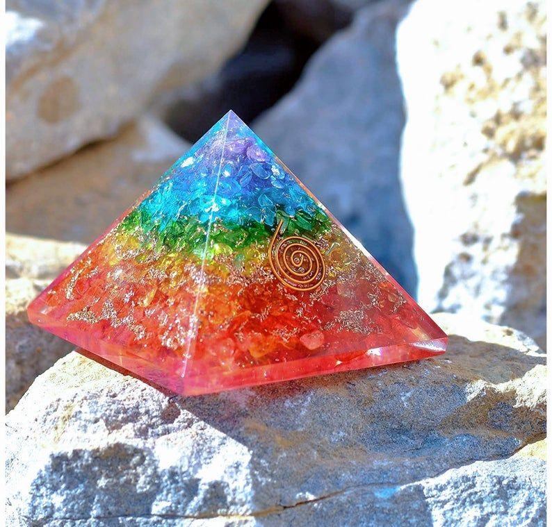 X-LG 70-75 MM  Nephrite Jade Stone Crystal Orgone Pyramid Reiki Energy Generator