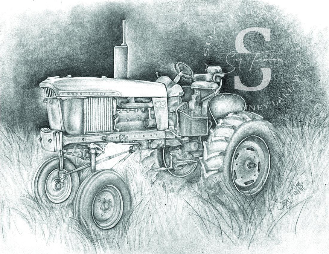 john deere tractor | Artist Suzy Fountaine | Pinterest | Tractores