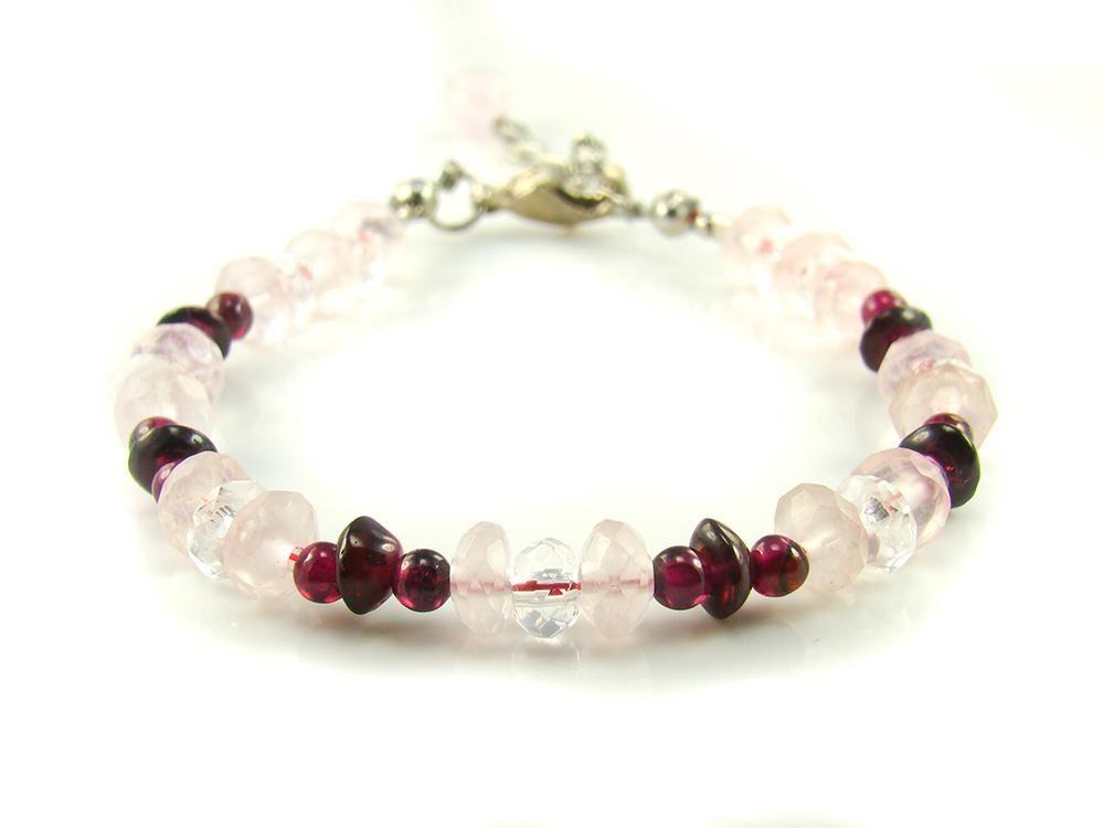 BA9539F Rose Quartz Garnet Clear Quartz Natural Crystal Flexible Base Finding Bracelet - See more at: http://waggashop.com/wagga-shop-ba9539f-rose-quartz-garnet-clear-quartz-natural-crystal-flexible-base-finding-bracelet