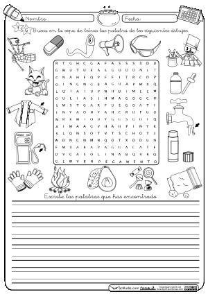 Sopa De Letras G Montessori Imagenes Educativas Actividades Con