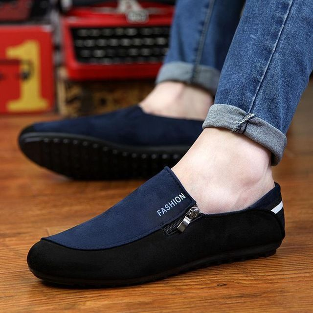 c260df78c38 Hot Espadrilles Casual Moccasins Men Loafers Shoes New 2016 Summer Style  Breathable Slip-on Black Blue Men Canvas Flat Shoes