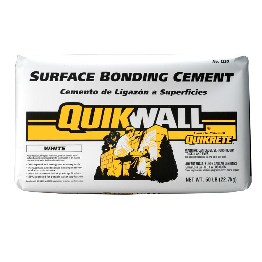 Quikrete Quikwall 50 Lb White Cement Mix Stucco Mix Cement Stucco
