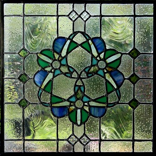 Stained Glass Kelmscott: Arts and Crafts Movement ORIGINAL STAINED GLASS AND DESIGN ARE PUBLIC DOMAIN