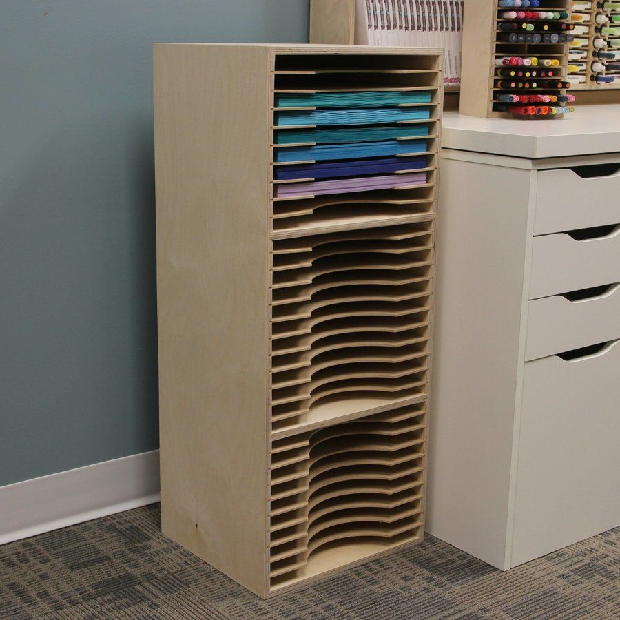 Three Tier Paper Holder Craft Storage Ideas For Small Spaces Paper Storage Craft Storage