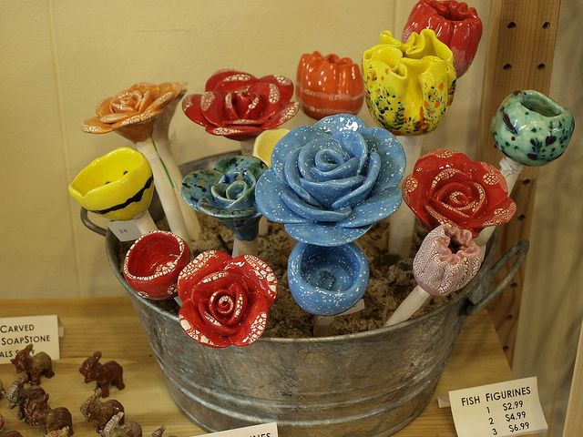 ceramic flowers or your pots and garden by PlantEscape, via Flickr