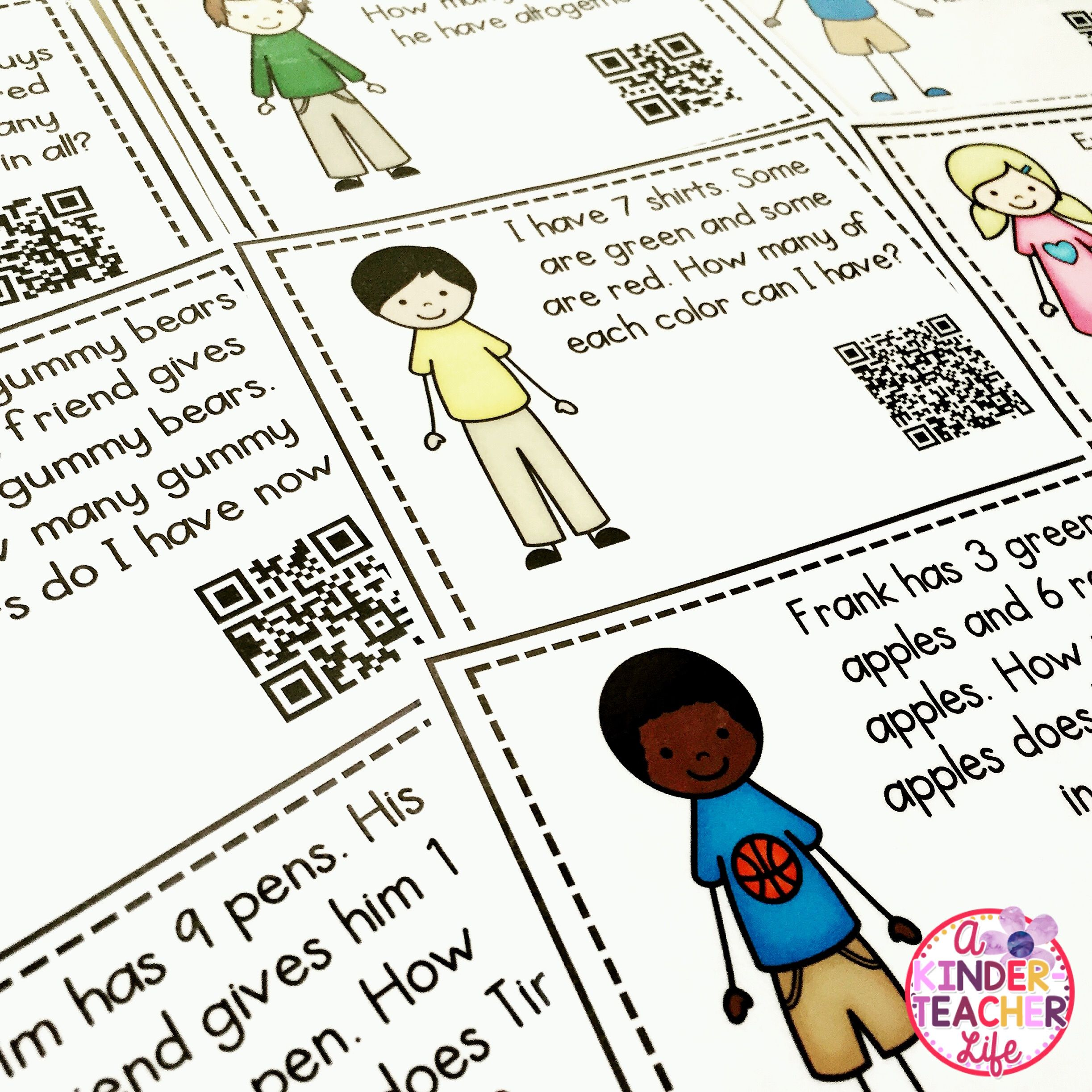 Solving Word Problems Using Qr Codes