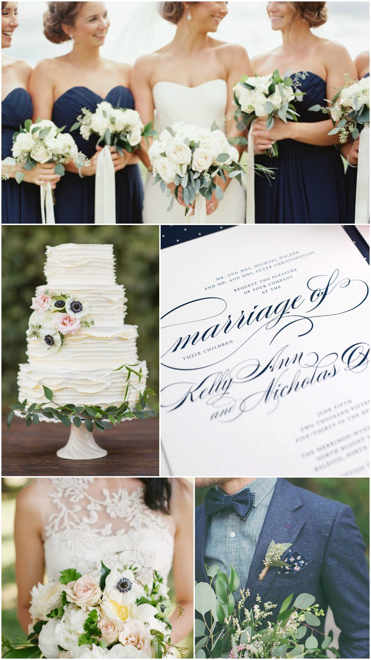 Elegant Navy Wedding Inspiration | Navy weddings, Elegant and Navy