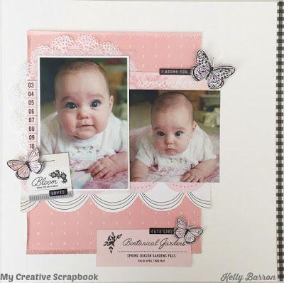 Baby Girl Layout Scrapbook ideas Pinterest Layouts