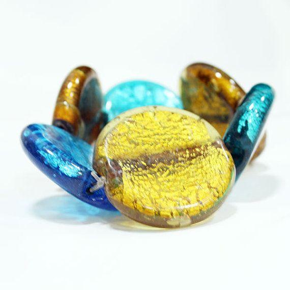 Sassy Silver Foil Stretch Glassbeads Bracelets....only $9.99 on our Etsy shop!