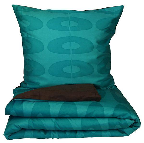 Mette Ditmer SHAPE sengesæt 140x200 - turkis / sort. Køb online!