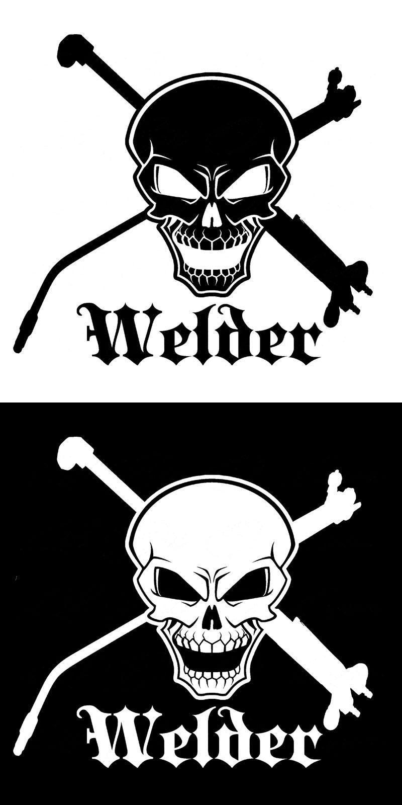 Visit To Buy 17 8cm 16 6cm Skull And Cross Tools Welder Vinyl Welding Weld Car Motorcycle Car Accessories Car Stick Woodburning Projects Welders Cricut Vinyl