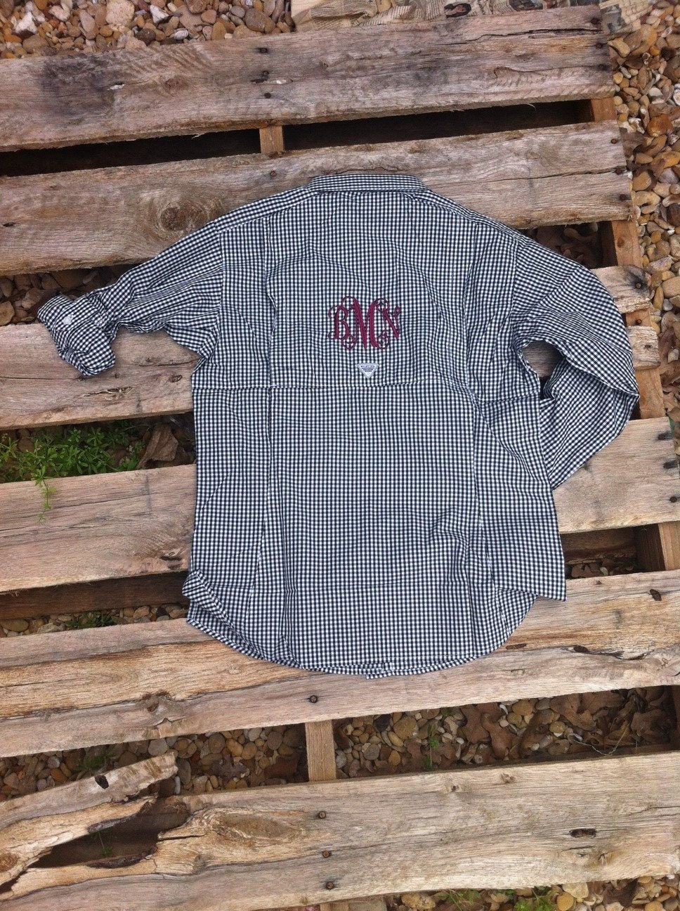 dcaf93d9cfeb9 Swimsuit cover up- Monogrammed Columbia PFG Fishing Shirt Women's by  ShopEllieBelle, $50.00