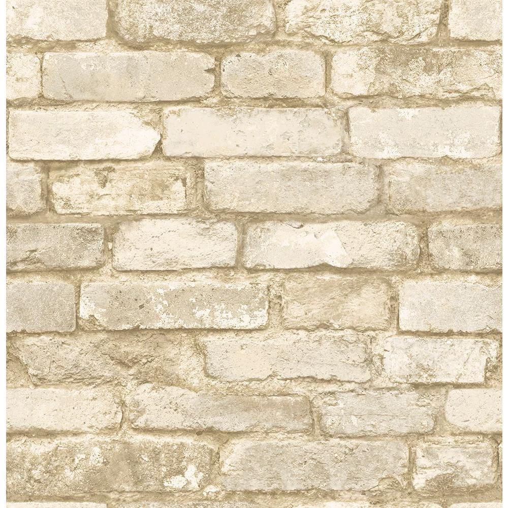 Chesapeake Oxford White Brick Texture Wallpaper Sample Products