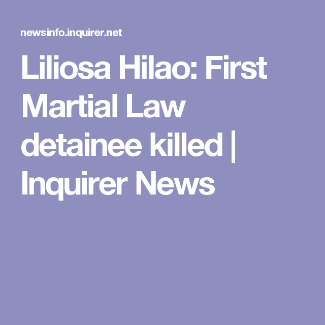 Liliosa Hilao: First Martial Law detainee killed | Inquirer News