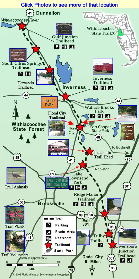 Withlacoochee Trail Map Trail Maps Citrus County Florida Florida Adventures