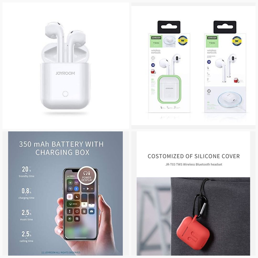 Buy Joyroom Jr T03 Wireless Bluetooth Headset Airpods With Wireless Charging Support For Only 3899 00 11dtempe Wireless Bluetooth Bluetooth Headset Headset