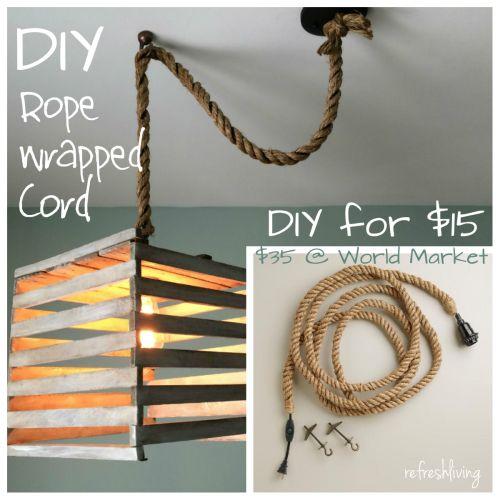 Diy Rope Pendant Cord Refresh Living Diy Pendant Light Diy