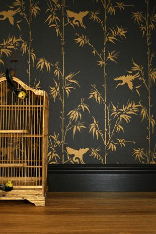 Chinoiserie Winter By Bowie Wong Wallpaper Chinoiserie