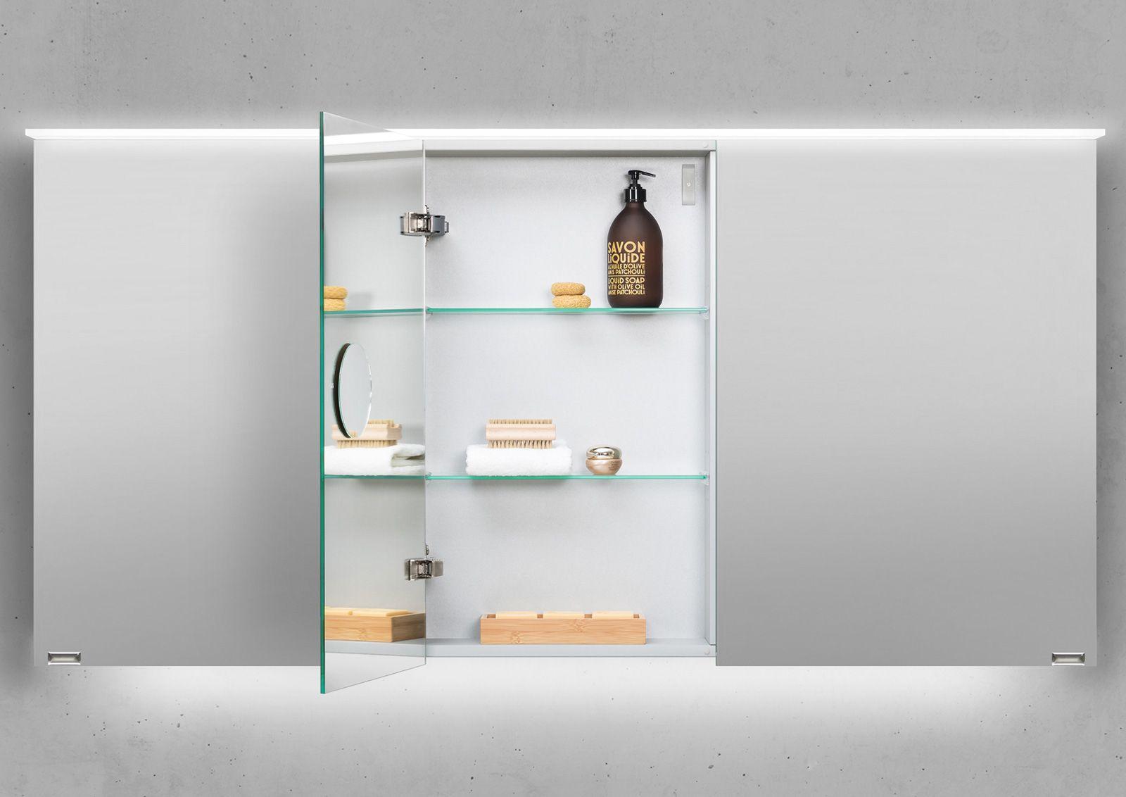 Designbaeder Com Spiegelschrank Spiegelschrank Bad Led Aufbauleuchte