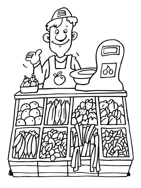Kleurplaten Over Gezond Eten.Beroepen Kleurplaat Gezonde Voeding Coloring Pages Preschool