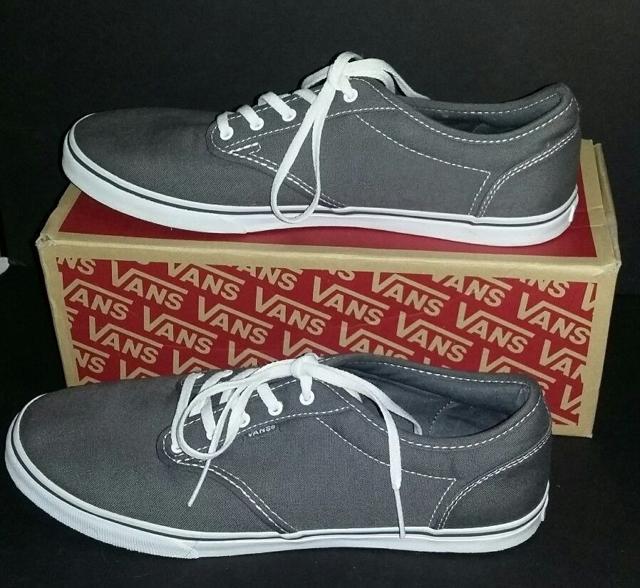 4c7814c7a3 Vans Off The Wall Atwood Low Canvas Pewter  White Womens Size 11 Worn Once