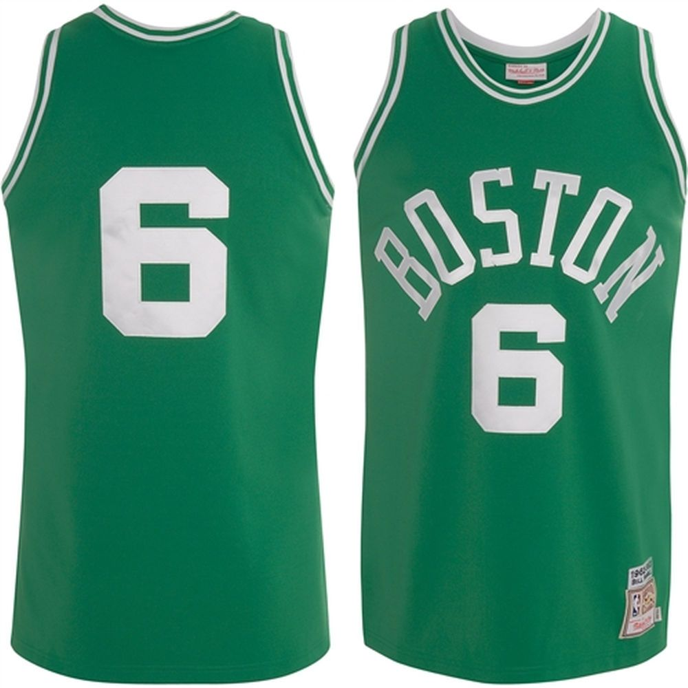 Mitchell   Ness Boston Celtics Bill Russell 1962-63 Hardwood Classics  Authentic Jersey 0ff91fde2