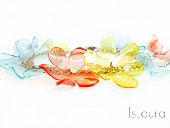 TUT***fiori di plastica montati su catenina