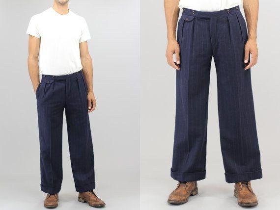 Zoot Leg Pinstripe Pants Wide Ralph Suit Polo By Lauren Dress Ygbvf76yIm