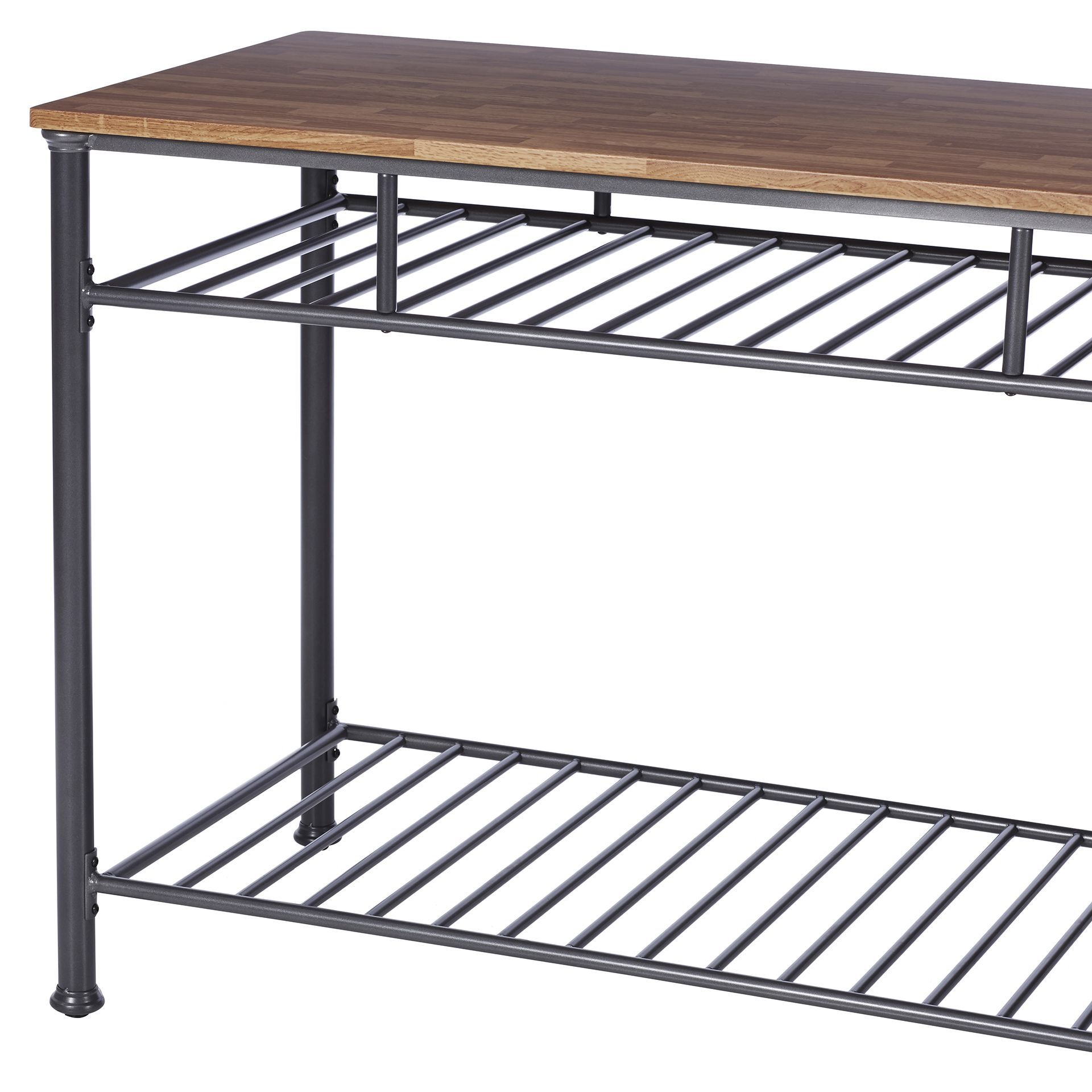 Tania Prep Table With Wood Top Traditional Kitchen Island Kitchen Prep Table Kitchen Style